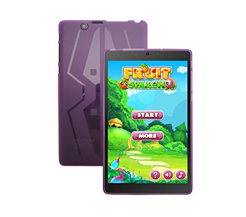 iShoppingdeals - for Nextbook Ares 8 Tablet (Model NXA8QC116 Only) TPU Rubber Shell Cover Case (Purple)