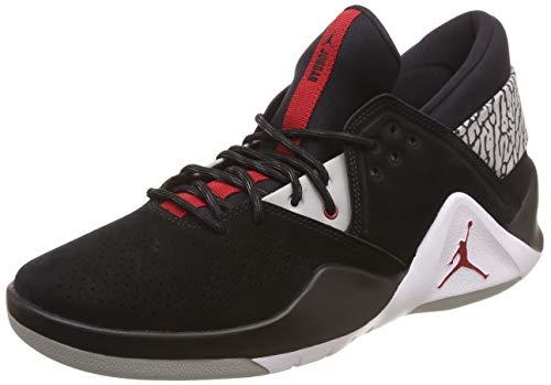 Nike Jordan Flight Fresh Prem - black/gym red-cement grey-whit, Größe:11.5