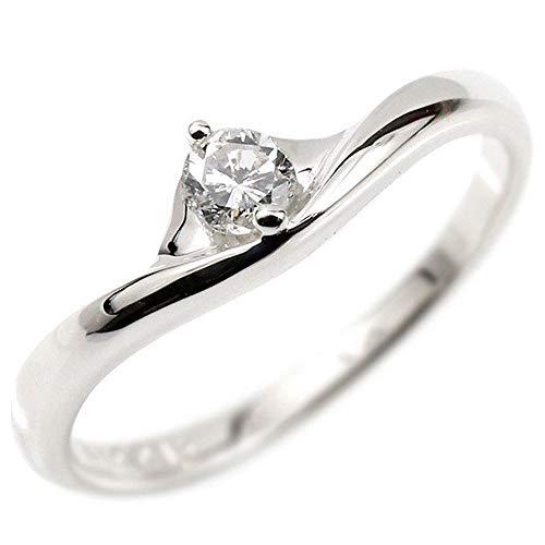 [アトラス]Atrus リング レディース pt900 プラチナ ダイヤモンド 一粒 大粒 宝石 V字 指輪 22号