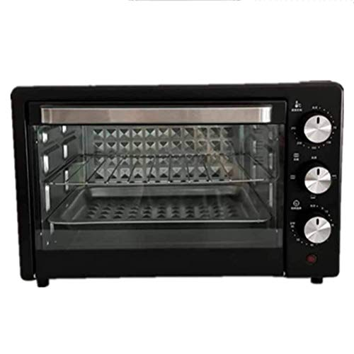 KAUTO 22-l-Ofen, temperaturregelbar 100-230 ℃ Zyklusheizung, elektrischer Ofen Explosionsgeschützter Glastür-Toaster