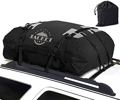 SHIELD JACKET Waterproof Roof Top Cargo Luggage Travel Bag (15 Cubic Feet) - Roof Top Cargo Carrier...