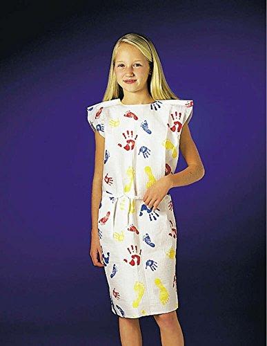 Graham Medical 37235 Tiny Tracks Tissue/Poly/Tissue Pediatric Gown, 20