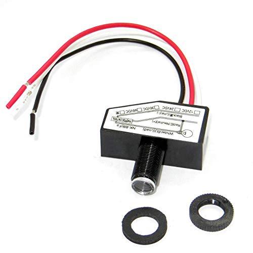 Lichtschalter 12 V 24 V 36 V 48 V, Twilight Switch, Mini Lichtsteuerung mit Fotozelle Auto ON/OFF Lichtsensor Steuerschalter Dusk To Till Dawn