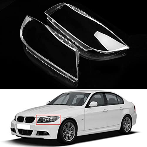 Speedmotor 2Pcs Headlamp Headlight Clear Lens Cover Shell Replacement for BMW 3 Series E90 E91 2005-2008