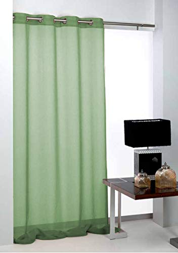 Export Trading Basic Gordijn, Polyester, Groen, 140 x 265