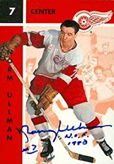 Autograph Warehouse 63161 Norm Ullman Autographed Hockey Card Detroit Red Wings Parkhurst No. 45