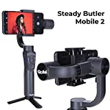 Rollei Steady Butler Mobile 2 Smartphone-Gimbal I Timelapse, Object-Tracking, Hochformat und Zoom...