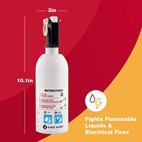 FIRST ALERT Fire Extinguisher, Kitchen Fire Extinguisher, White, KITCHEN5