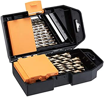 Amazon Basics 29-Piece Titanium Drill Bit Set