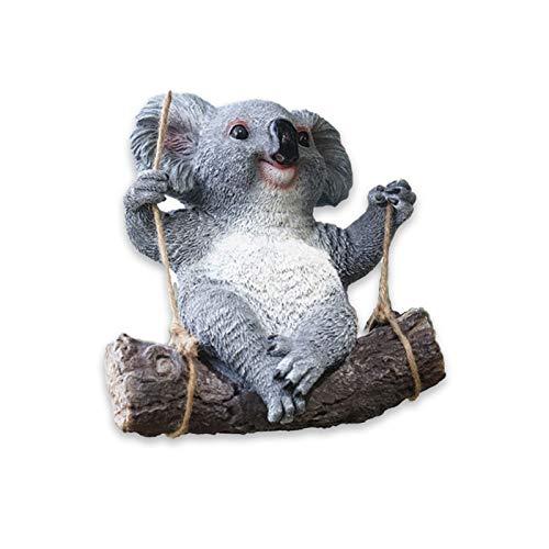 Decoraciones de animales pequeños de resina simulación de koala Panda Escultura Jardín Jardín Infantil Bosque Colgante Ornamentos (Tamaño:B)