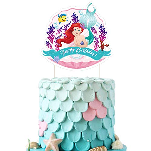 Ariel Cake Topper Cupcake Decorations Birthday Fish Party Topper for Children, 1 count