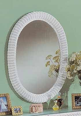 Extra Large Oval Wicker Mirror