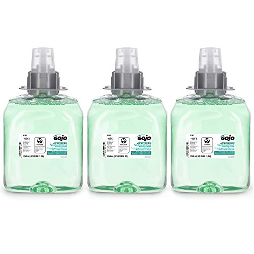 Price comparison product image GOJO Green Certified Foam Hand,  Hair & Body Wash,  Cucumber Melon Scent,  1250 mL Refill for GOJO FMX-12 Push-Style Dispenser (Pack of 3) - 5163-03