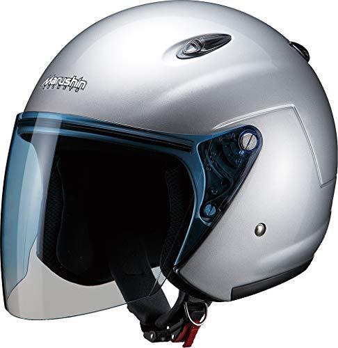 マルシン(MARUSHIN) バイクヘルメット ジェット M-400XL シルバー (61-62cm未満) 4009