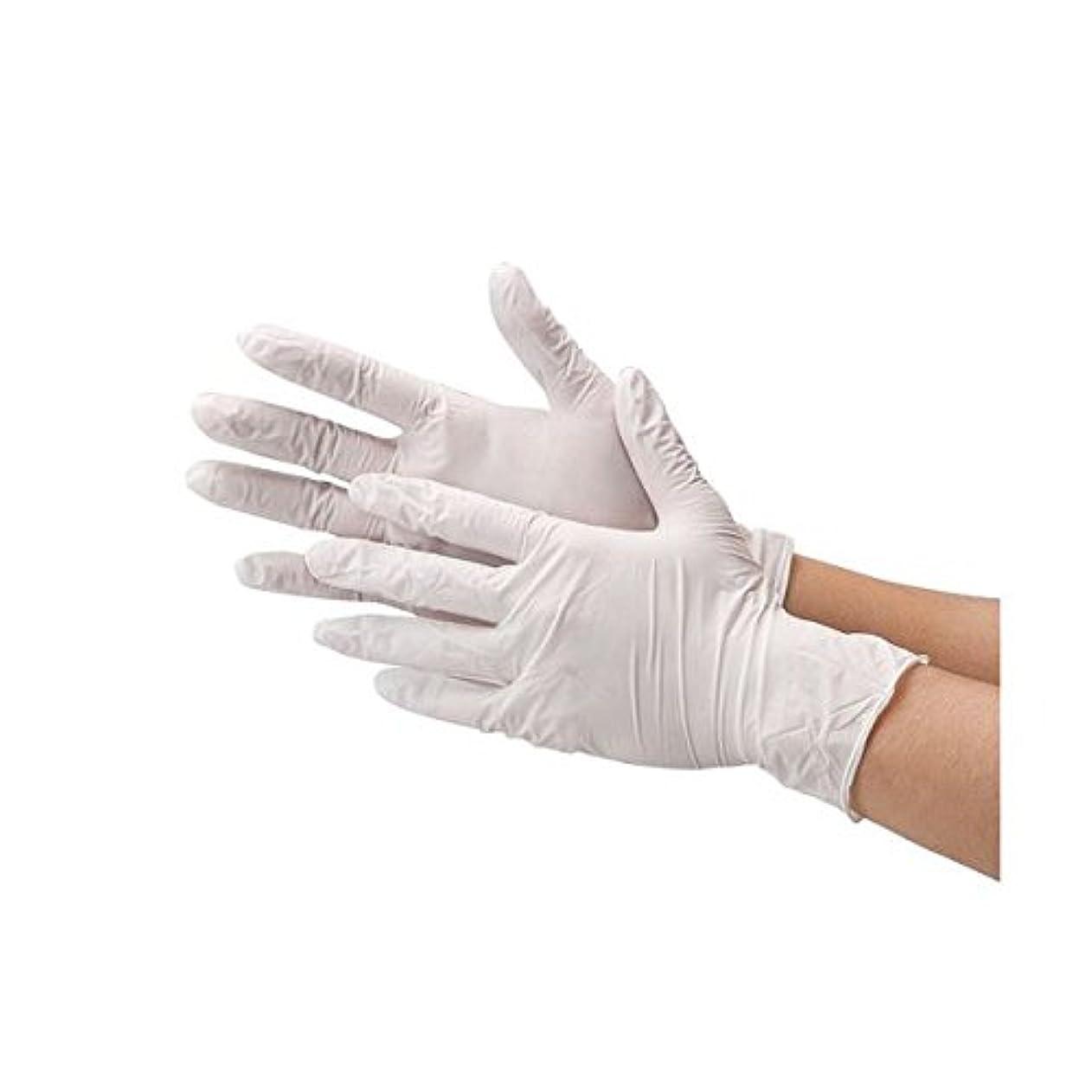 海藻キャッシュアブストラクト川西工業 ニトリル極薄手袋 粉なしホワイトS ds-1915809