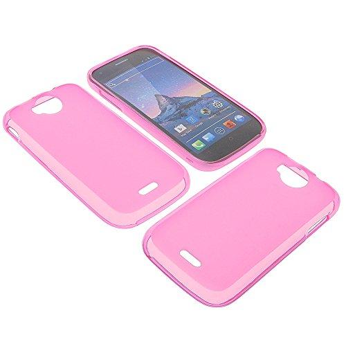 foto-kontor Tasche für Wiko Cink Peax 2 Gummi TPU Schutz Handytasche pink