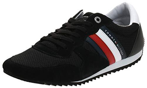 Tommy Hilfiger Herren Essential MESH Runner Sneaker, Schwarz (Black Bds), 42 EU