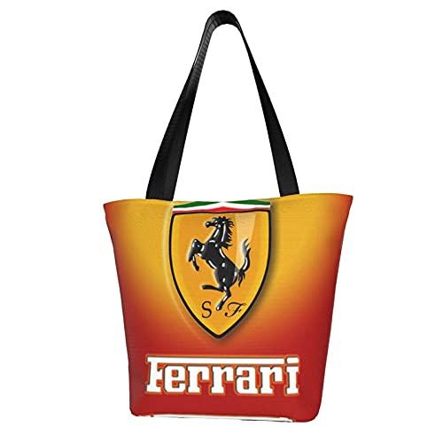Ferrari - Bolsas de viaje para mujer, lona, para fin de semana, para llevar en el hombro, bolsa de equipaje