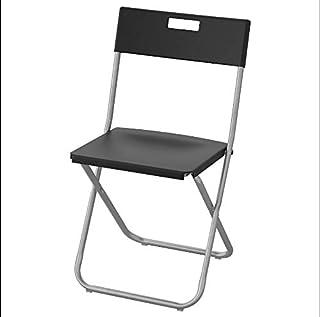 IKEA GUNDE Silla Plegable - Negro