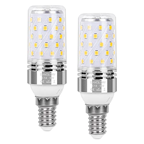 SanGlory E14 LED Lampadine Bianco Neutro 4000K, 9W Equivalente a Alogeno 80W, 950LM, E14 Mais lampade Non Dimmerabile Lampadine a Candela, Pacco da 2 (9W E14 4000K)