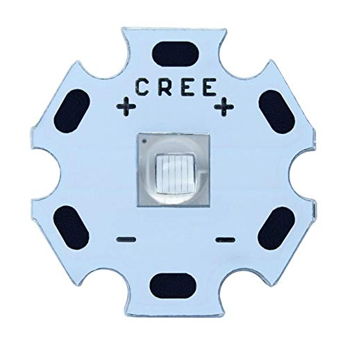 CREE XML2 XM-L2 T6, Maidodo 10W LED de alta potencia diodo emisor COB de alta potencia LED chips de lámpara, 20 mm PCB para bricolaje, aluminio, Blanco frío,10 piezas