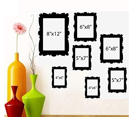 BestPricedDecals Family Tree Picture Frames ~ Wall Decal (1) 8'X 10' (2) 5' X 7' (2) 6'X 8' (2) 4'X 6'