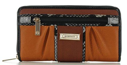 Gussaci Damenbörse Reißverschlussbörse GUSC-88 Orange