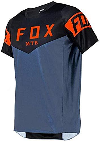 MLB Jersey Hombre,Mountainbike-Trikot Für Männer Fox,Herren Downhill Trikots Kurzarm MTB Fox Mountainbike Shirts Offroad Dh Motorrad Trikot Motocross Sportwear Fxr XL