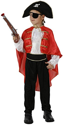 Deguisement Costume Capitaine Des Pirates Halloween Taille 5 A 7 ANS - 986