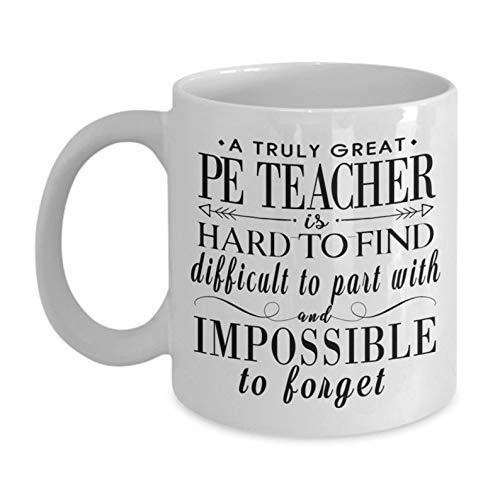 Regalos de profesor de educación física para hombres y mujeres, idea de regalo de profesor de gimnasia, profesor de educación física, agradecimiento, regalos de regreso a la escuela, taza de café pers