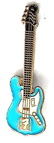 Broche de metal esmaltado, pin, con diseño de guitarra eléctrica Fender, color...