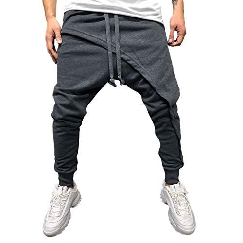 Basic Sweatpants, Pantalones de Deporte para Hombre, SUNNSEAN Jogger Pantalón de Chándal Sueltos Casuales Elastico Suave para Deportes Gimnasio Pantalones Pants