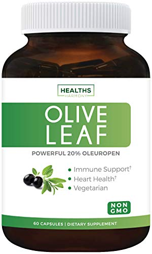 Olive Leaf Extract (Non-GMO) Super Strength: 20% Oleuropein...