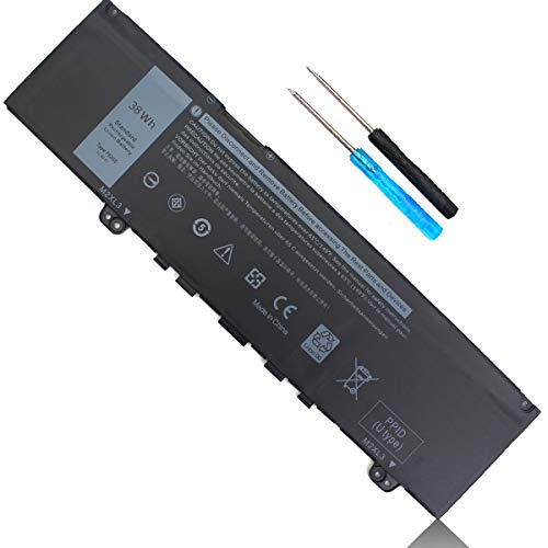 38Wh F62G0 Laptop Battery Replacement for Dell Inspiron 13 7000 7373 7386 2 in 1 7370 7380 5370 P91G P83G P87G P91G001 P83G001 P83G002 P87G001 F62GO RPJC3 39DY5 039DY5 0RPJC3 Vostro 5370 11.4V 3-Cell