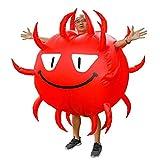 インフレータブルウイルスコスチュームハロウィンひどい病原体コスプレコスチューム大人用ゲイントスーツ(150-190cm),150~190 cm