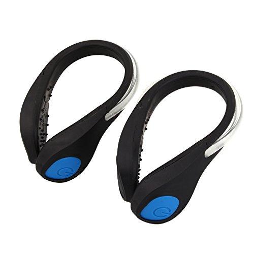 merssavo Scarpa del LED Clip–Con Blu Super strass luci LED. Premium qualità sicurezza per corsa, ciclismo, Passeggio, trotar, equitazione e sport all' aria aperta a cavallo di tutto.