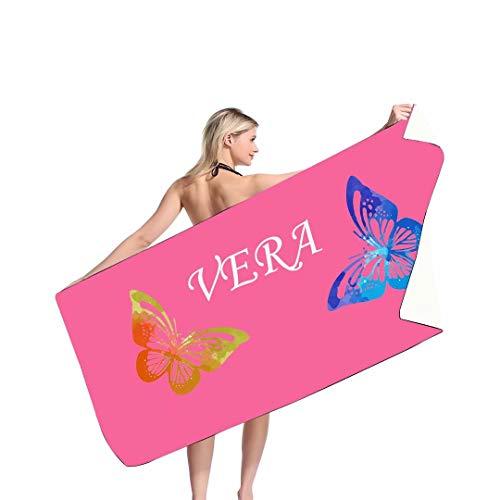 Toallas de Playa Personalizadas para Mujeres Hombres Adultos. Toalla de Playa con Nombre Personalizado con Nombre Baloncesto Fútbol Béisbol Regalos de Verano - Agregue su Nombre Bordado o Monograma