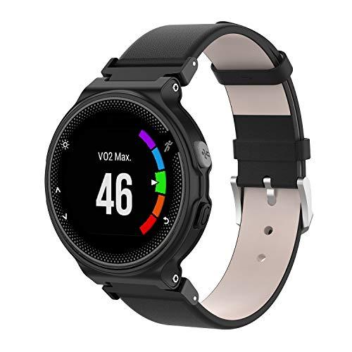 Pulsera WEINISITE para Garmin Forerunner 235,Cuero Repuesto Correa para Garmin Forerunner 235/220/230/620/630/735 Smart Watch (#2)