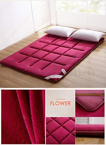 Flanel Tatami Folding Kingsize Bed Kussen/pad voor slaapzaal/home Super zachte matras Veiligheid Materiaal Bedroom Funiture,3,90 width