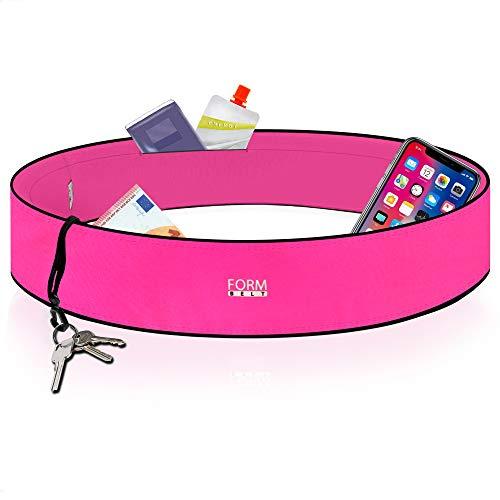 Formbelt® Laufgürtel für Handy Smartphone iPhone 8 X XS XR 11 6-s 7+ Plus Samsung Galaxy S7 S8 S9 S10 Edge Hüfttasche für Sport Fitness Laufen Bauchtasche zum Laufen (pink, L)