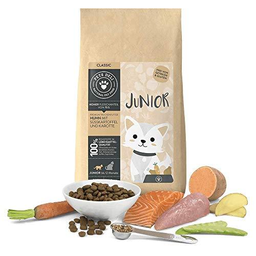 Junior Katzenfutter trocken 2 kg | Premium-Qualität | Huhn mit Süßkartoffel | Trockenfutter für junge Katzen mit 75% Fleisch- & Fischanteil, getreidefrei und ohne unnötige Zusätze