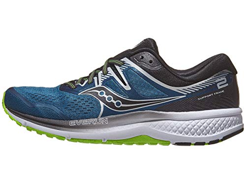 Saucony Men's Omni ISO 2 Running Shoe, Blue/Silver, 11