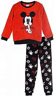 Pijama Largo coralina Rojo Minnie Mouse Disney 3 años 100% Poliester