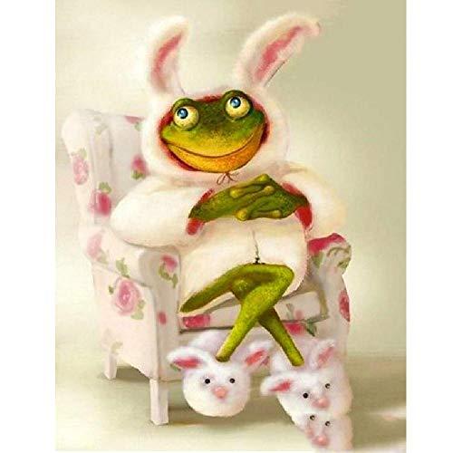 AZYVv Puzzle 1000 Teile 3D Erwachsene Puzzles Frosch Im Hasen Kostüm Art DIY Leisure Game Spielzeug Heimtextilien