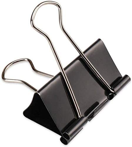 48 Pieces Extra Binder Clips 2 Inch Width Paper Clips Extra Large for Office Supplies Black product image