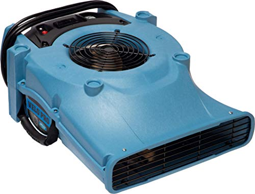 Dri-Eaz - 114969 Velo PRO Air Mover F505 Professional Water Damage Dryer for Carpets, Walls, Floors, 1.2 Amps on Low Saves Power, Variable Speed, High Velocity, Quiet, Well Built, Daisy Chains, Blue