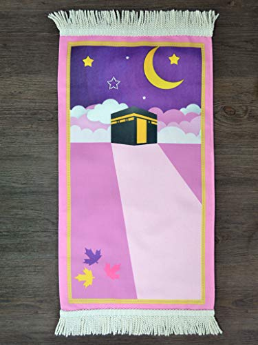 Imanpaper - Tapis de prière pour enfant avec Kaaba – Tapis de prière musulmane Namaz-LIK Seccade, tapis de prière | Salah Sejadah, Islamic Prayer Mat pour la prière à l