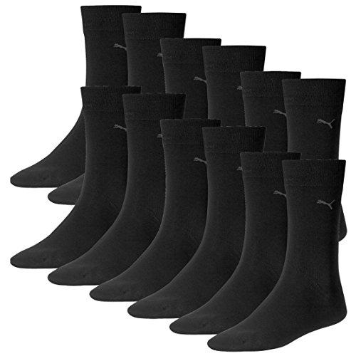 Puma Men Herren Basic Classis Casual Herrensocken für jeden Anlass. 6 Paar (43/46 - 6 Paar , black)