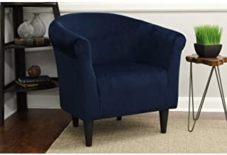 Best navy blue print accent chairs Reviews