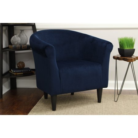 "Mainstays Microfiber Bucket Accent Padded Chair (Microfiber, 18"" Navy Blue)"